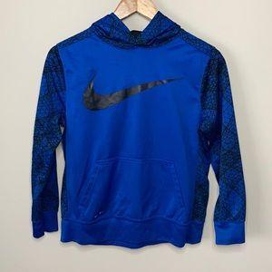 NWOT Nike Dri-Fit Blue Fleece Lined Hoodie Large